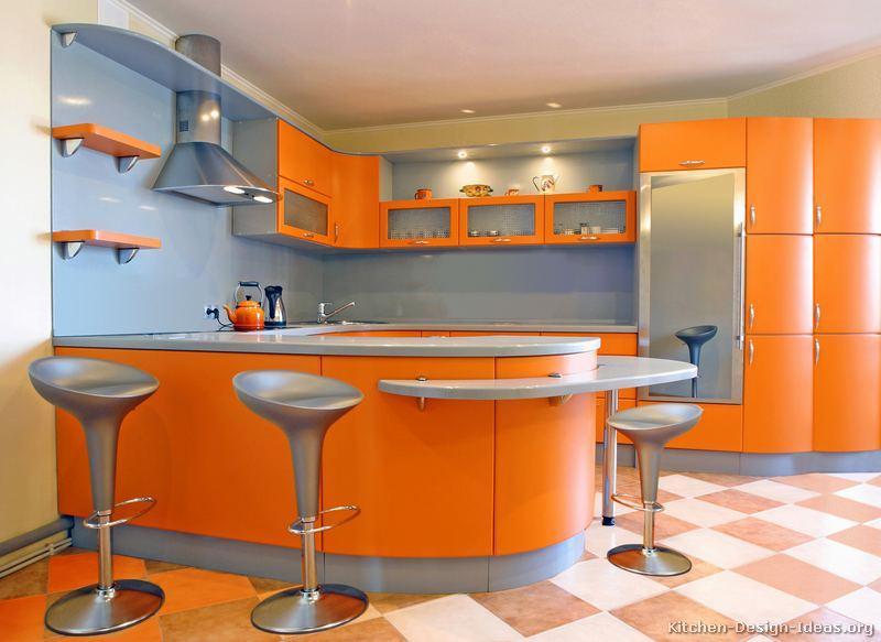 Pictures of Kitchens  Modern  Orange Kitchens Kitchen 7