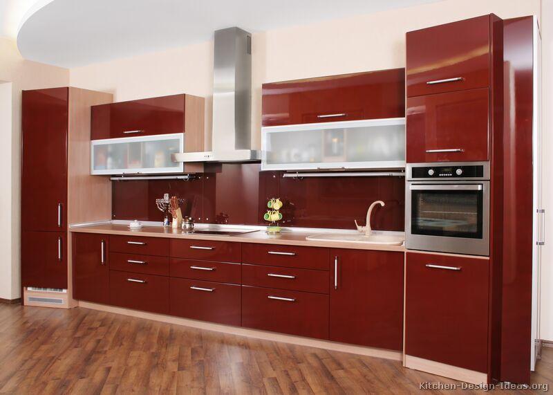 Modern Kitchen Red