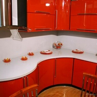 Modern Red Kitchen