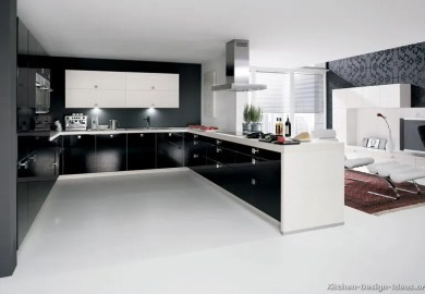 White Kitchen Cabinets With Black Crown Molding