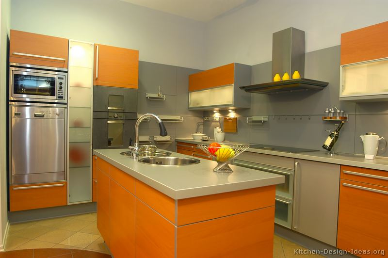 Pictures of Modern Orange Kitchens  Design Gallery