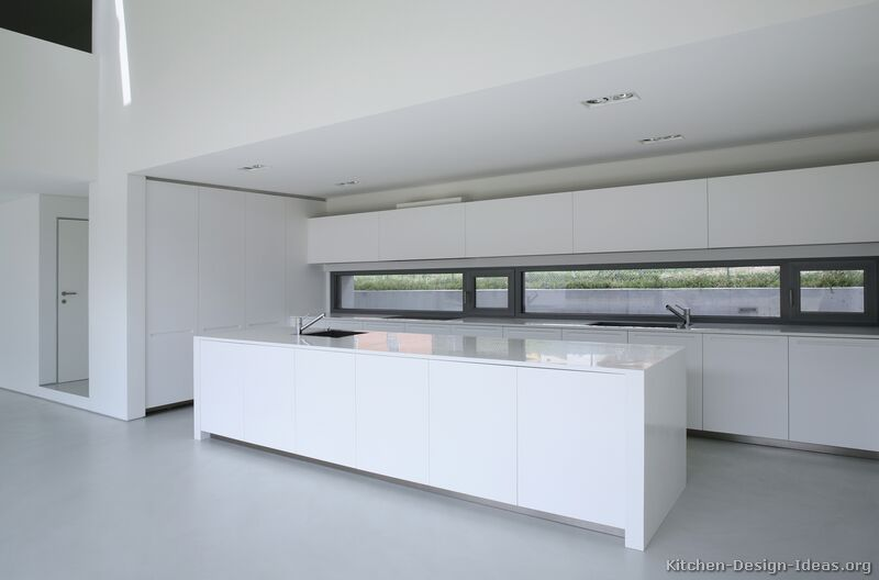 Pictures Of Kitchens Modern White Kitchen Cabinets Kitchen #8