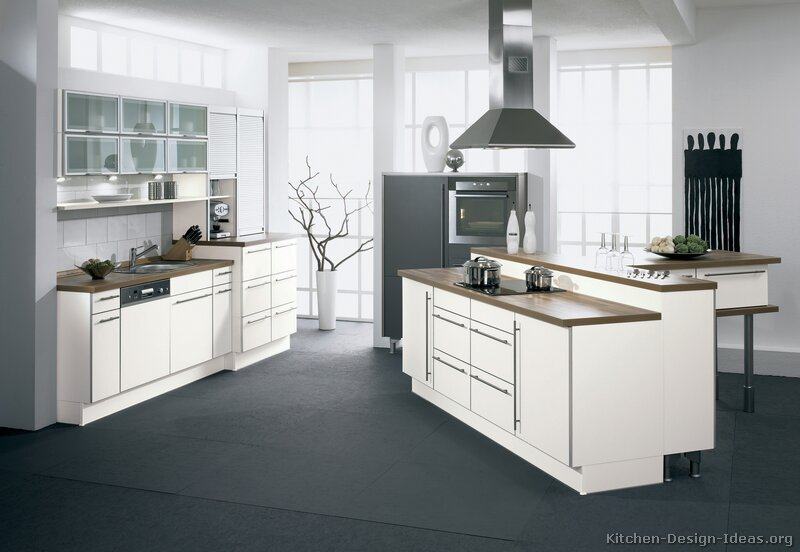 Pictures Of Kitchens Modern White Kitchen Cabinets Kitchen #13