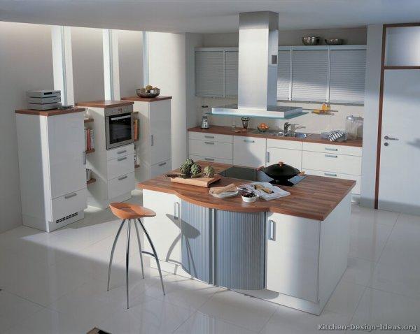 modern white kitchen cabinets Pictures of Kitchens – Style: Modern Kitchen Design