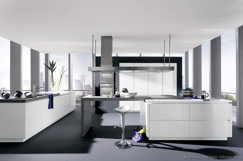 Pictures Of Kitchens Modern White Kitchen Cabinets Kitchen #20