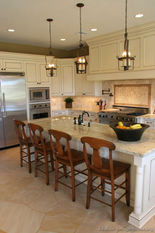 Pictures Of Kitchens Traditional Off White Antique