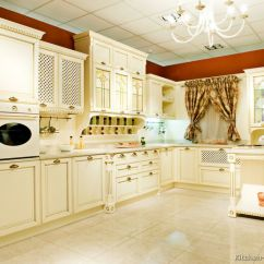 Kitchen Countertop Trends Rugs For Hardwood Floors Pictures Of Kitchens - Traditional Off-white Antique ...