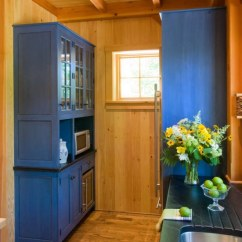Blue Kitchen Cabinets Pendant Lights For Island Log Home Kitchens - Pictures & Design Ideas