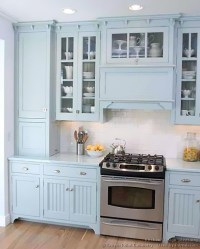 Pictures of Kitchens - Traditional - Blue Kitchen Cabinets ...