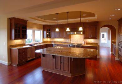 Luxury Cherry Wood Kitchen Cabinets