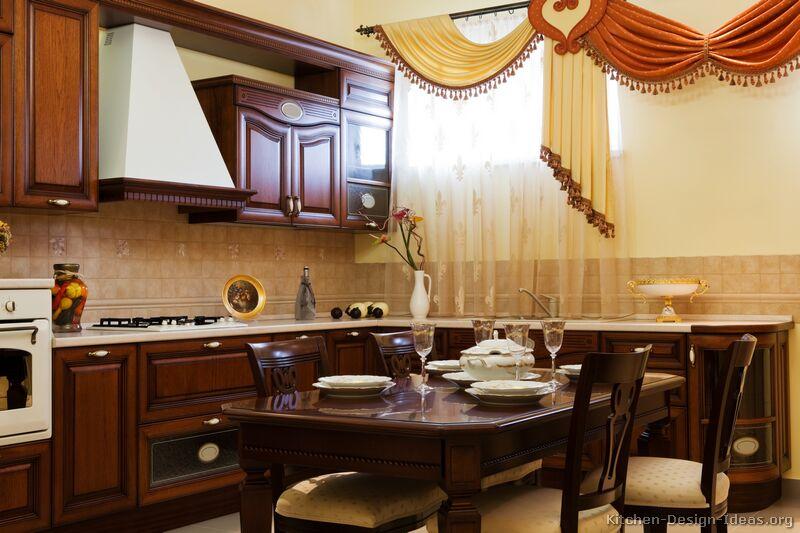 cherry cabinets kitchen lantern lights italian design - traditional style & decor