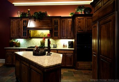 Colors For Kitchens With Dark Cabinets