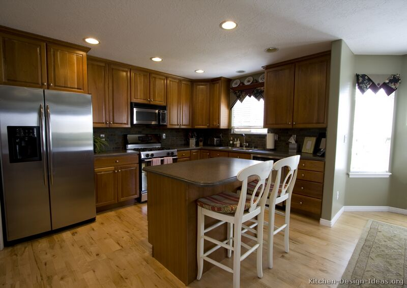 60 kitchen island easy backsplash pictures of kitchens - traditional medium wood cabinets ...
