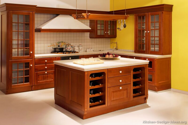 kitchen countertop trends faucets oil rubbed bronze pictures of kitchens - traditional medium wood, cherry ...