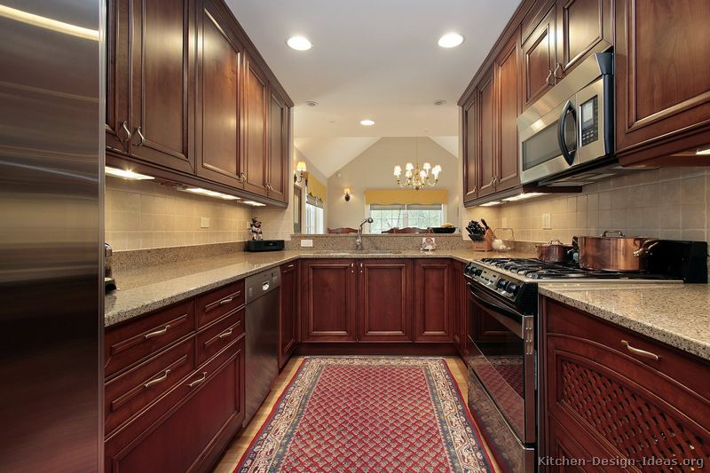 Pictures of Kitchens  Traditional  Medium Wood Kitchens CherryColor Page 3