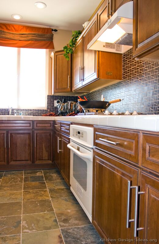 black kitchen countertops table ideas pictures of kitchens - traditional medium wood cabinets ...