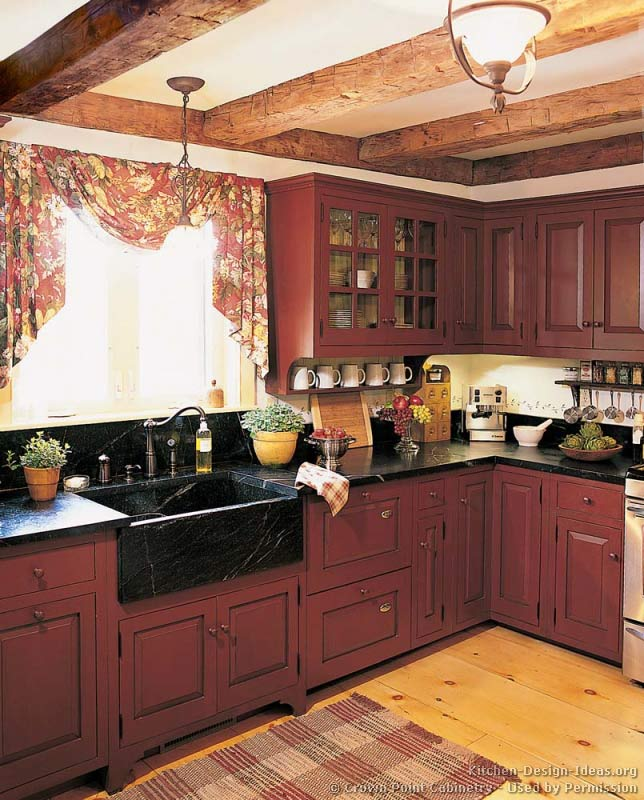 Red Country Kitchen Designs