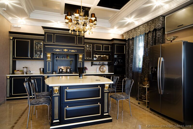 different kinds of kitchen countertops how much does it cost to replace cabinets pictures kitchens - traditional black