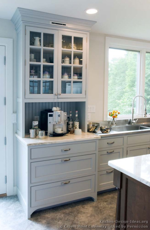 white kitchen faucet pull down used equipment transitional design with pale blue shaker style ...
