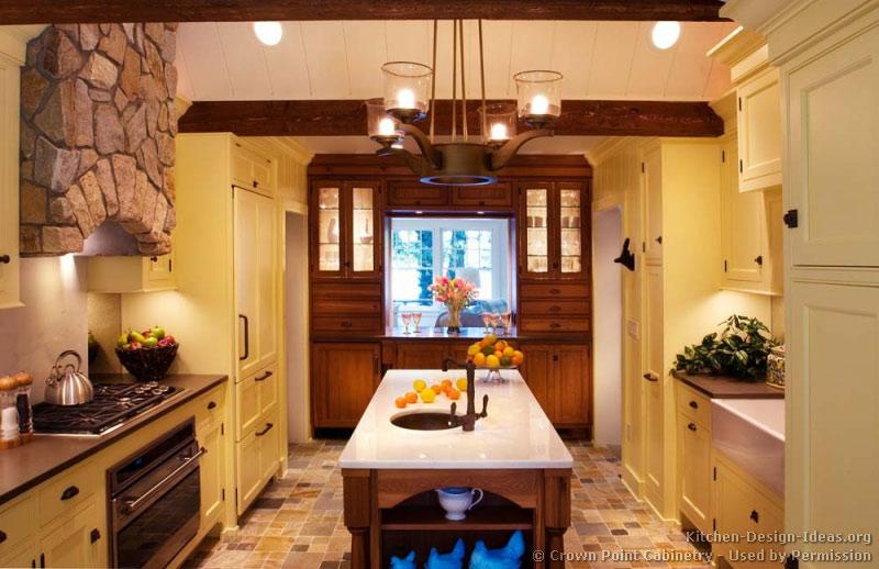 Yellow Kitchen Dark Cabinets Veterinariancolleges