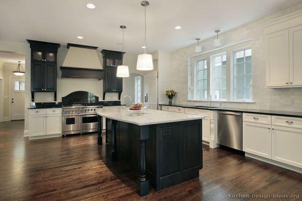 black and white wood kitchen design ideas Black and White Kitchen Designs - Ideas and Photos