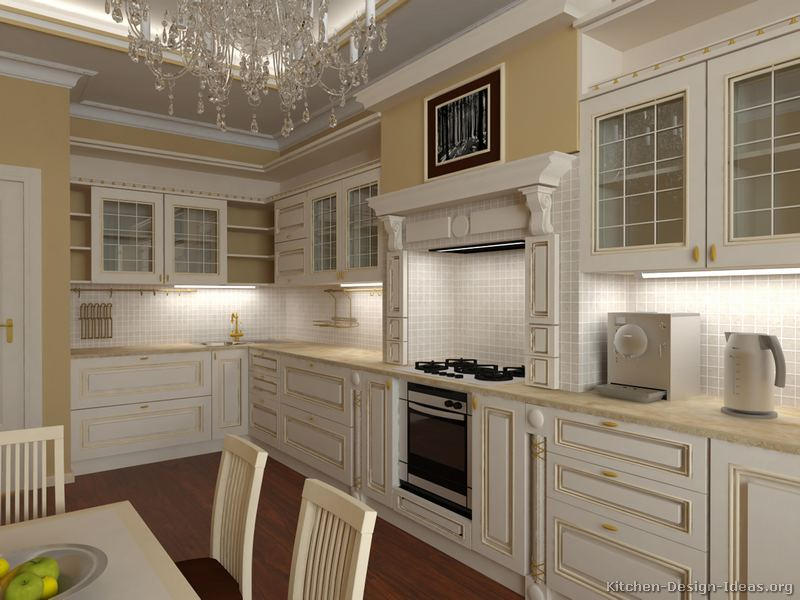 kitchen cabinets countertops ideas best floor pictures of kitchens - traditional two-tone ...