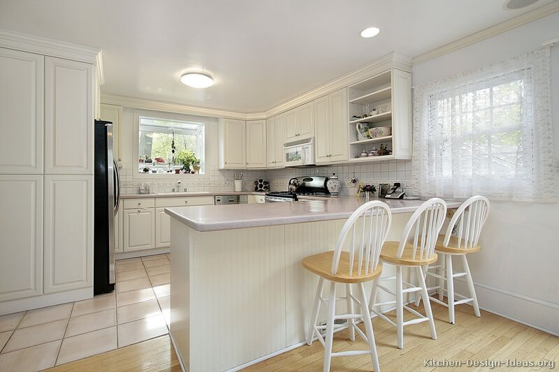 kitchen granite countertops cabinet ideas for small kitchens pictures of - traditional white ...