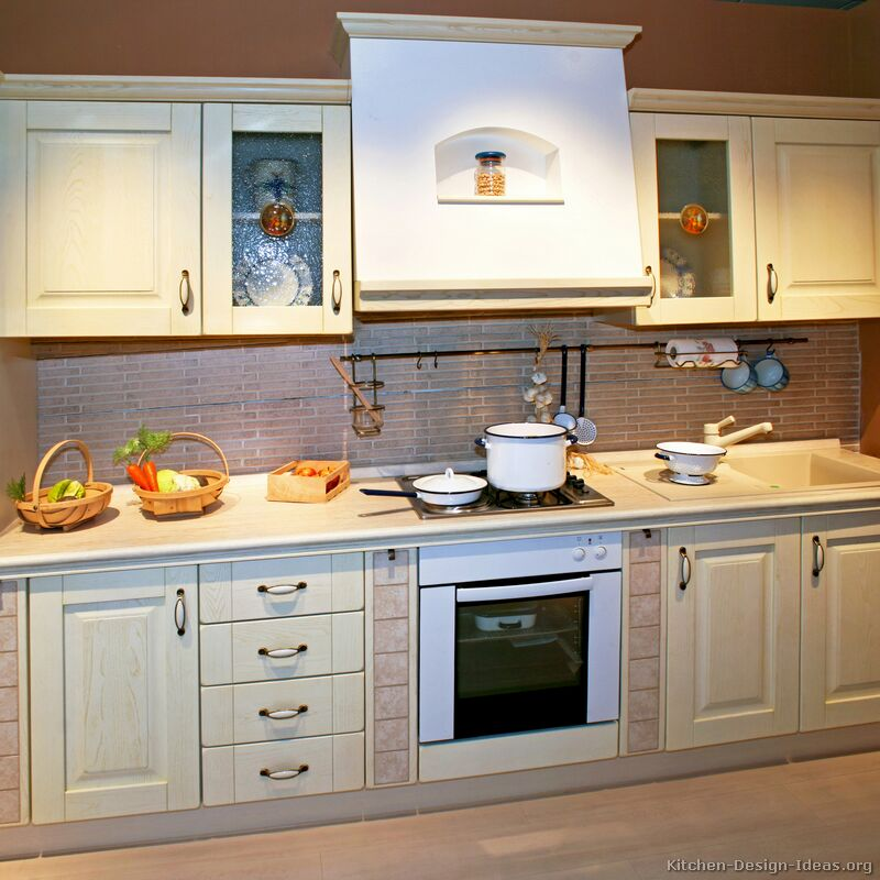 Pictures Of Kitchens Traditional Whitewashed Cabinets