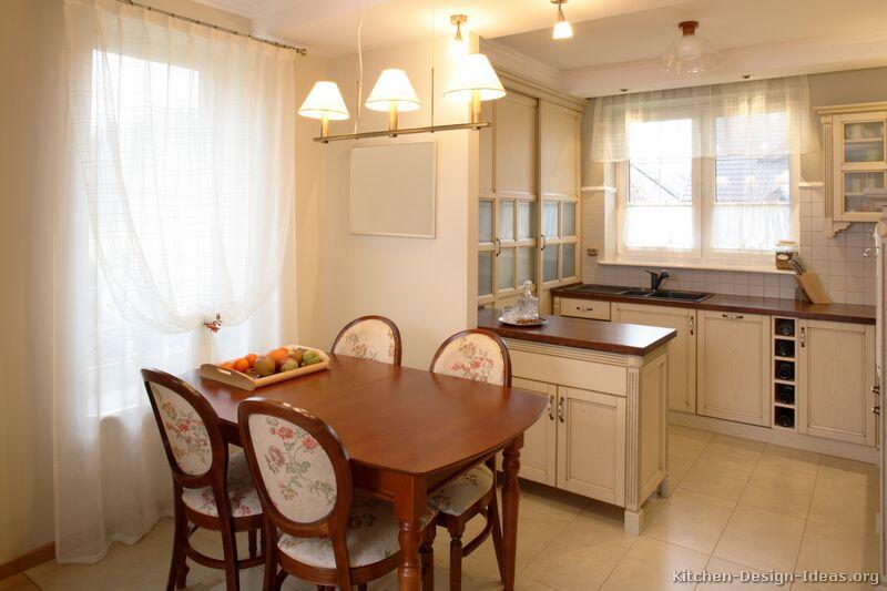 Whitewashed Kitchen Cabinets