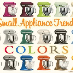 Kitchen Aid Appliance Sink Refinishing Porcelain Small Trends Spicing Up Kitchens With Color Style Kitchenaid Produces Mixers In Well Over A Dozen Different Colors