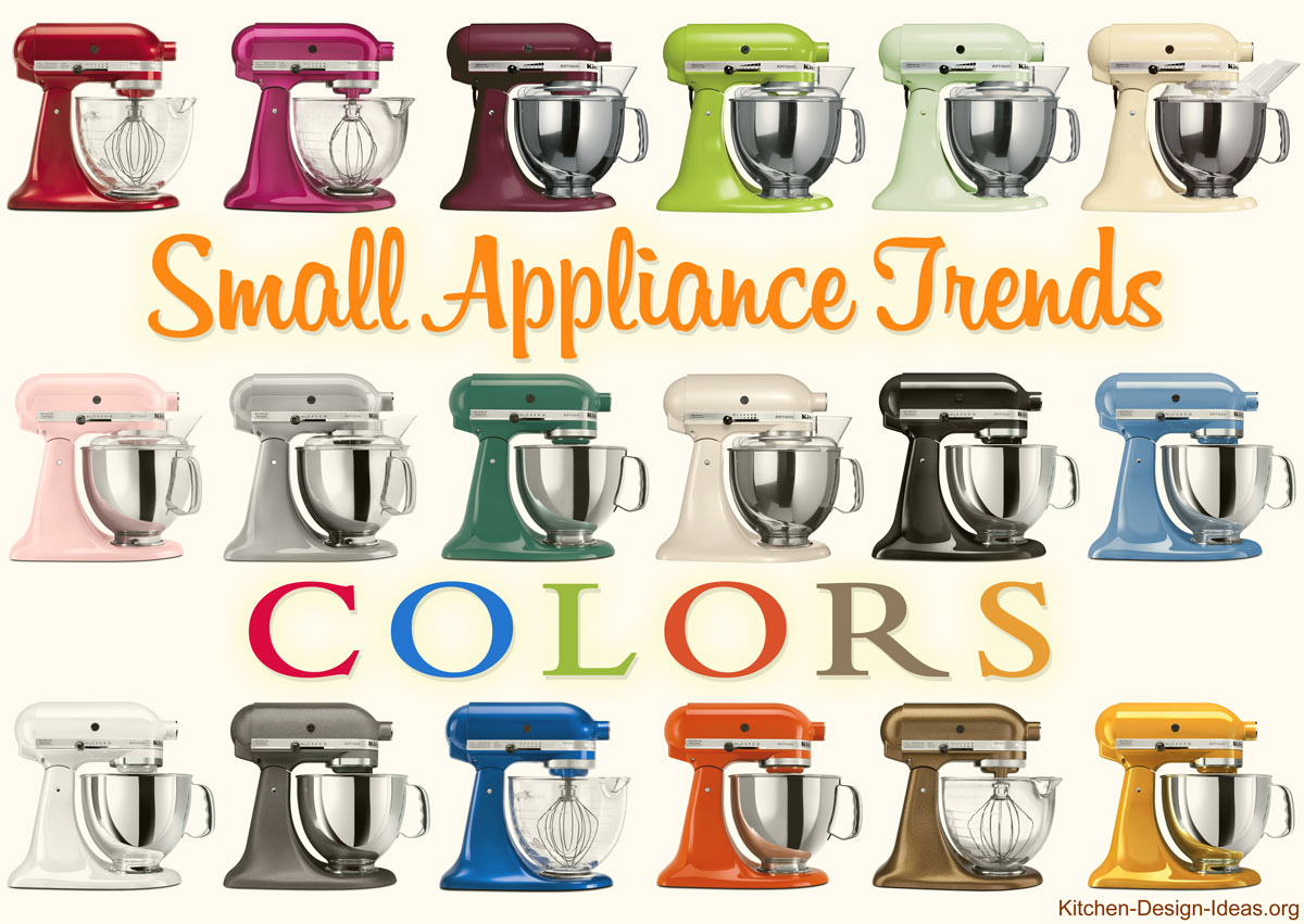 kitchen aid colors damascus knife small appliance trends spicing up kitchens with color style kitchenaid produces mixers in well over a dozen different