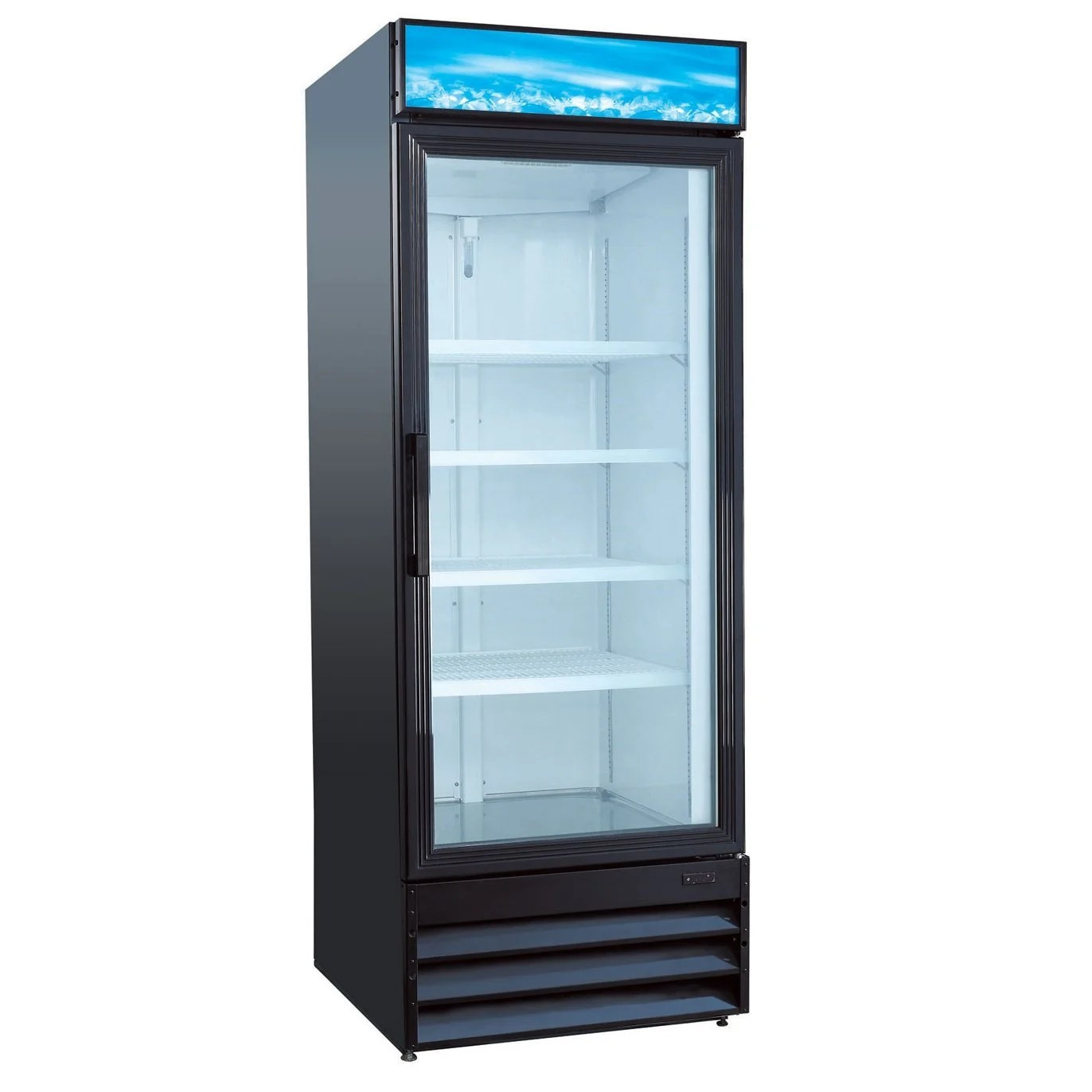 Commercial Refrigerator Glass 23CF Reachin 28  Kitchen