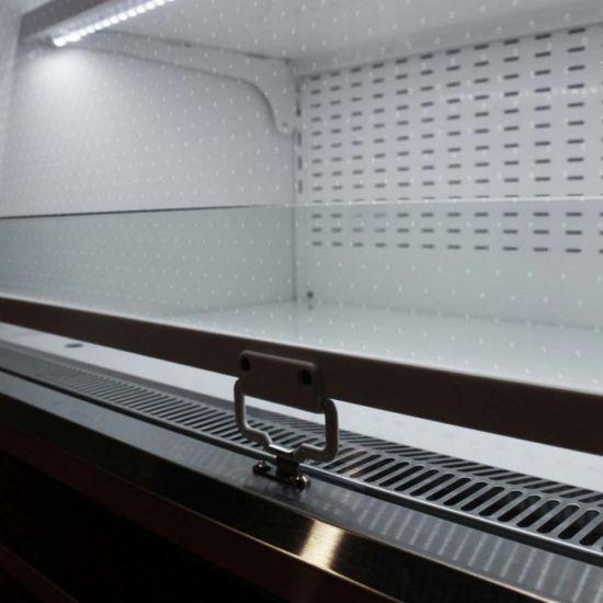 turbo air tom 48eb n 48 vertical air curtain open refrigerated display merchandiser black
