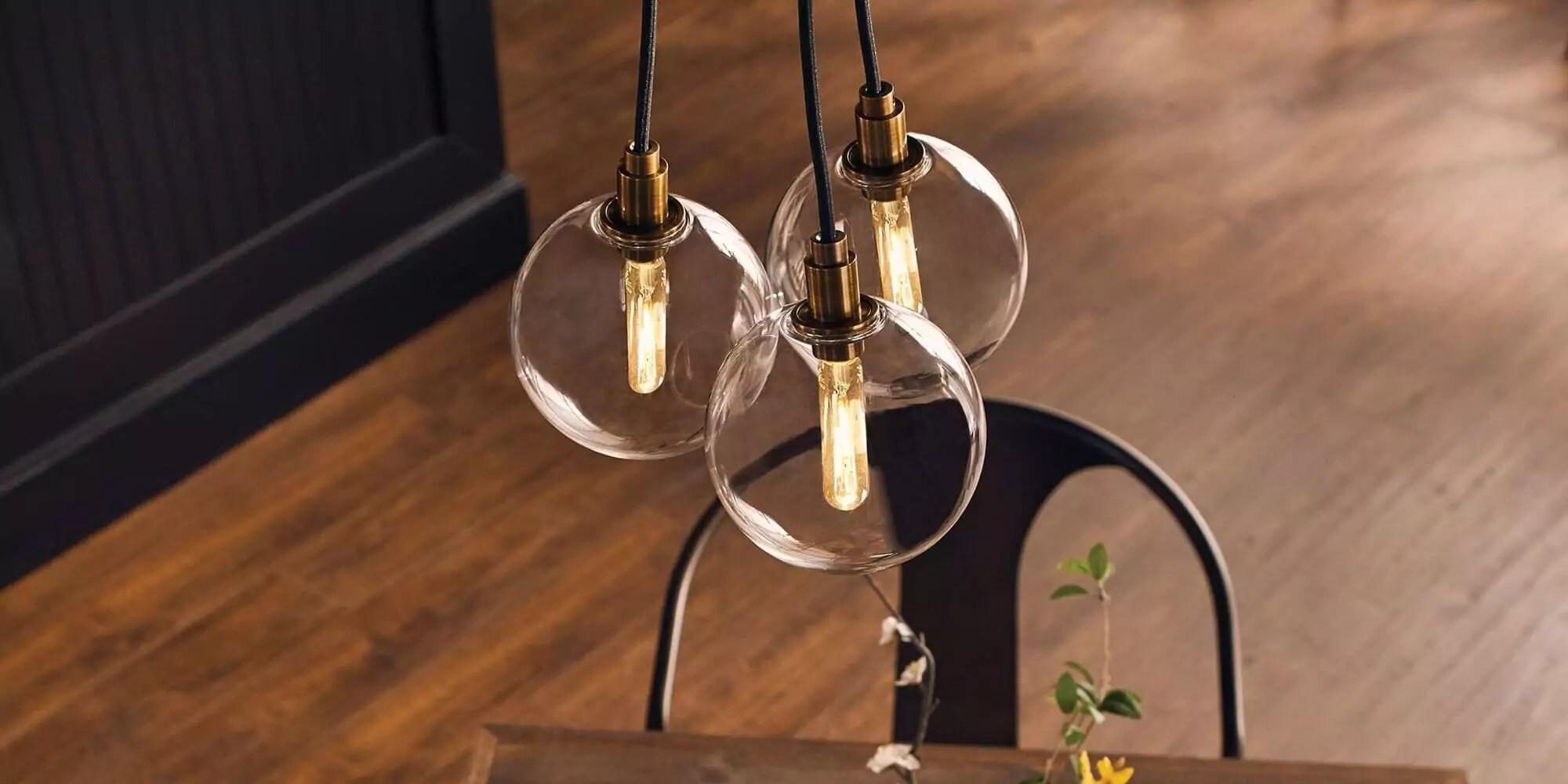 tech lighting fixtures at kitchen