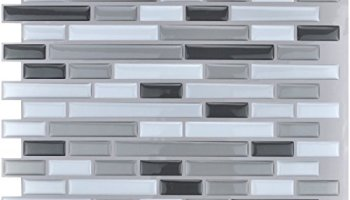 Art3d 12 X 12 Peel And Stick Tile Kitchen Backsplash Sticker Gray Brick Pack Of 6