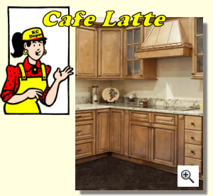 Cafe Latte Ready To Assemble Kitchen Cabinets