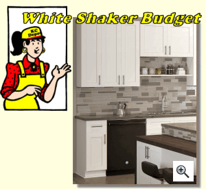 budget kitchen cabinets white island with granite top shaker ready to assemble