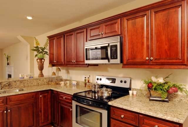 Walnut Merlot Ready to Assemble Kitchen Cabinets  Kitchen