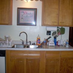 Kitchen Sink Without Cabinet Deals Discounts Rta Makeovers Discouns Before Makeover Marcy S Old Jpg