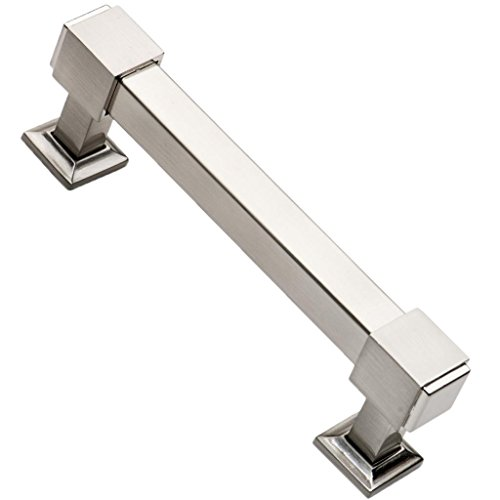 southern hills brushed nickel drawer pulls 4 inch screw spacing pack of 5