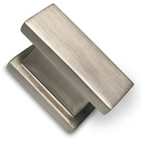 Brushed Nickel Cabinet Knob By Southern Hills - Rectangle -Satin Nickel - Pack of 5 - Kitchen Cabinet Knobs - Nickel Cabinet Pulls - Cabinet Hardware - Drawer Knobs