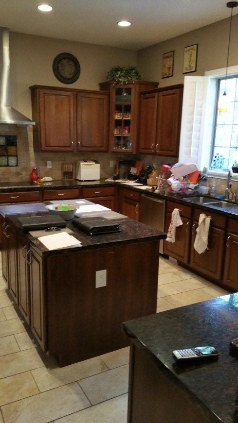 kitchen cabinet refinishing air style trends: accent color island | better ...