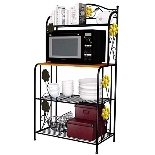 gracelove kitchen bakeru0027s rack utility microwave oven stand storage cart workstation shelf