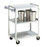 "Vollrath (97120) 27-1/2"" Medium-Duty Stainless Steel Utility Cart"