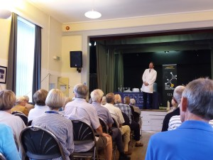 A return visit to Stour Valley U3A with the original Kitchen Chemistry show.