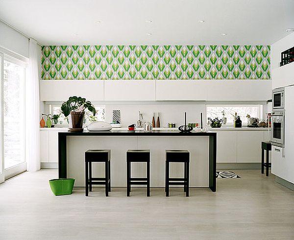 Exotic-green-kitchen-wallpaper-ideas