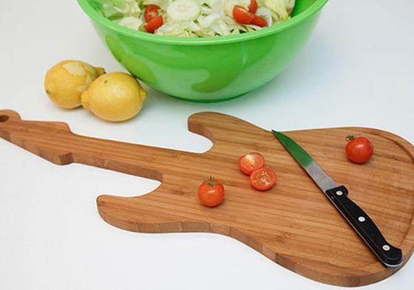 Creative Guitar Cutting Board Design