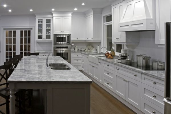 Allstyle Cabinet Doors White Shaker Wide Rail Kitchen Doors photo courtesy of Art McConville - Work of Art Kitchens