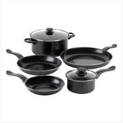 Kitchen Pots And Pans Bridal Shower Invitations Product Details Graphite Black 7 Piece Nonstick Iron Cookware Set