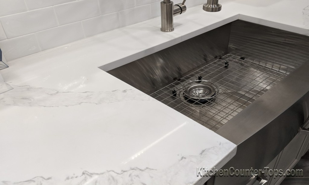 White Quartz Countertops that Look Like Marble.